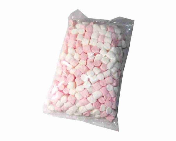 Pink and white mini mallows